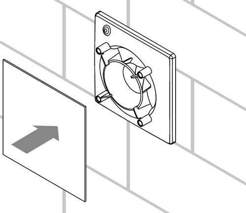 Решетка крепится к базе вентилятору