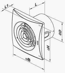 Эскиз вентилятора с размерами