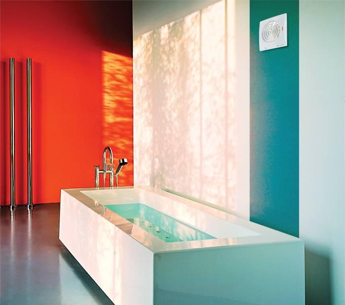 Пример вытяжки в ванной