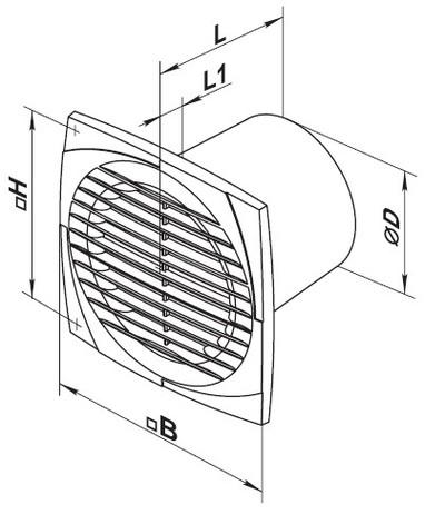 Чертеж вентилятора