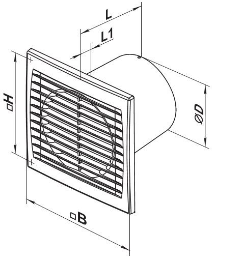 Размеры 125 вентилятора