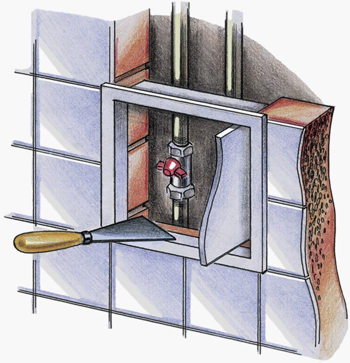 Как установить ревизионный люк на раствор