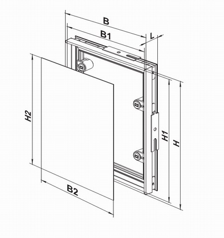 Размеры и чертеж ревизионной дверцы под плитку
