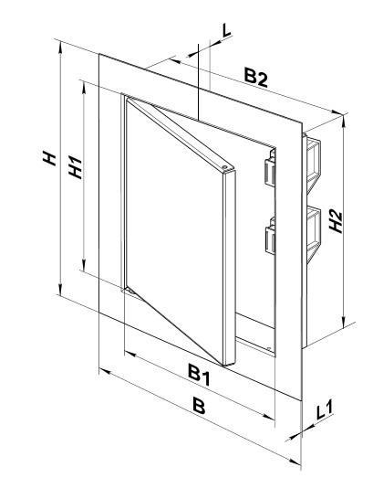 Чертеж и размеры люка ревизионного из стали