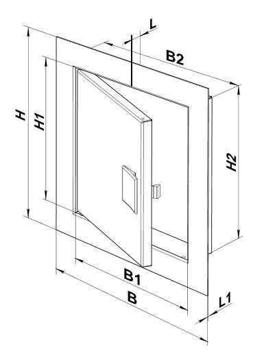 Дверца ревизионная с ручкой размеры