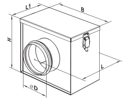 Чертеж кассетного воздушного фильтра 125 мм