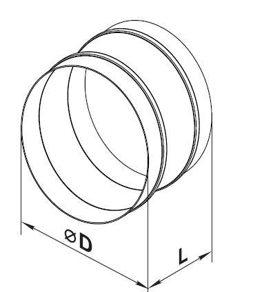 Креслення і розміри гнучкої вставки
