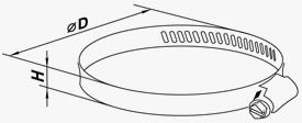 Размеры червячного хомута