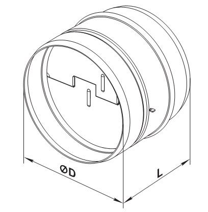 Размеры обратного клапана для вентилятора