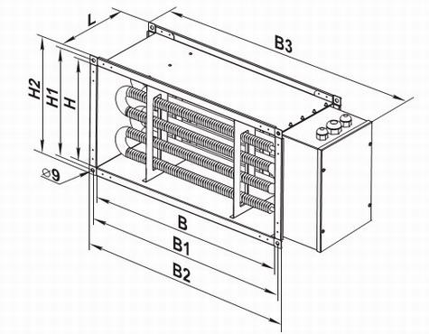 Чертеж электрического нагревателя нк