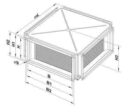 Размеры пластинчатого рекуператора