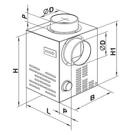 Чертеж и присоединительные размеры вентилятора