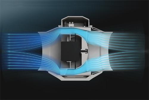 Движение воздуха через корпус вентилятора