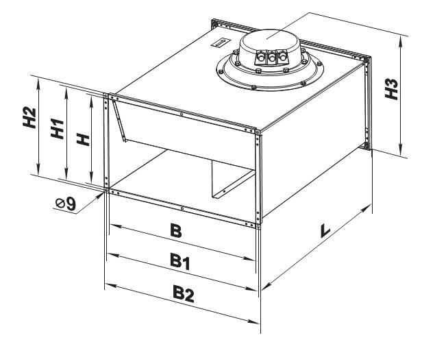 Чертеж и габаритные размеры вентилятора