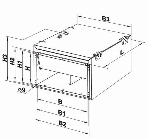 Габаритные размеры корпуса вентилятора