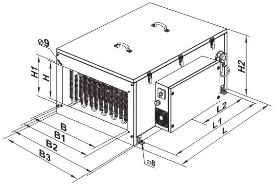 Чертеж компактной приточной установки