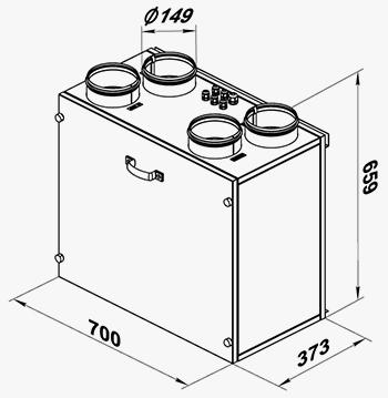 Чертеж и размеры установки ВУТ 300 Э2В Ес