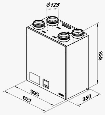 Размеры и чертеж Вентс ВУТ 300 ЭВ мини