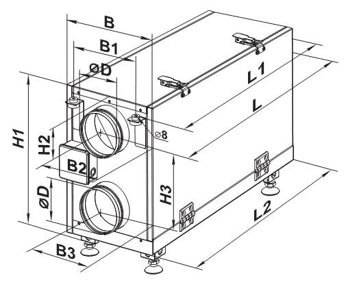 Габаритный чертеж с размерами установки вут мини ес