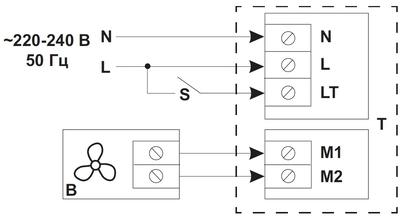Схема подвода напряжения