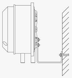 Схема монтажа на кронштейн