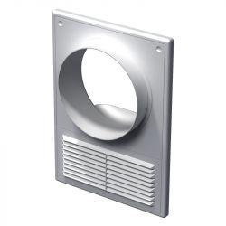 Решетка вентиляционная с фланцем Вентс МВ 100 КВс