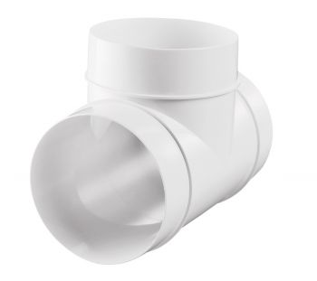 Тройник круглый пластиковый 100 мм