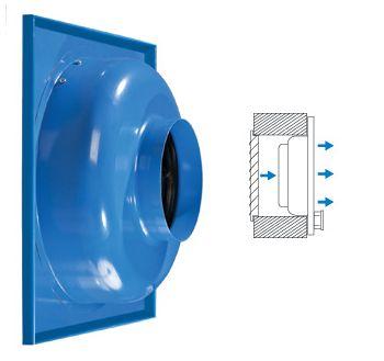 Приточный вентилятор (ВЦ-ПК) монтируется в стену