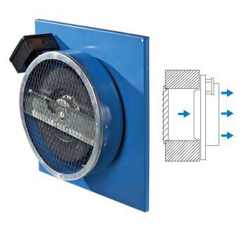 Вентилятор приточный ВЦ-ПН монтируется на стену