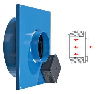 Вытяжной вентилятор ВЦ-ВК для монтажа непосредственно в стену