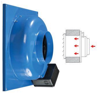 Вытяжной вентилятор ВЦ-ВН монтируется на стене